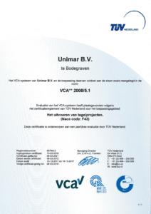 VCA certificaat geldig tot 2021
